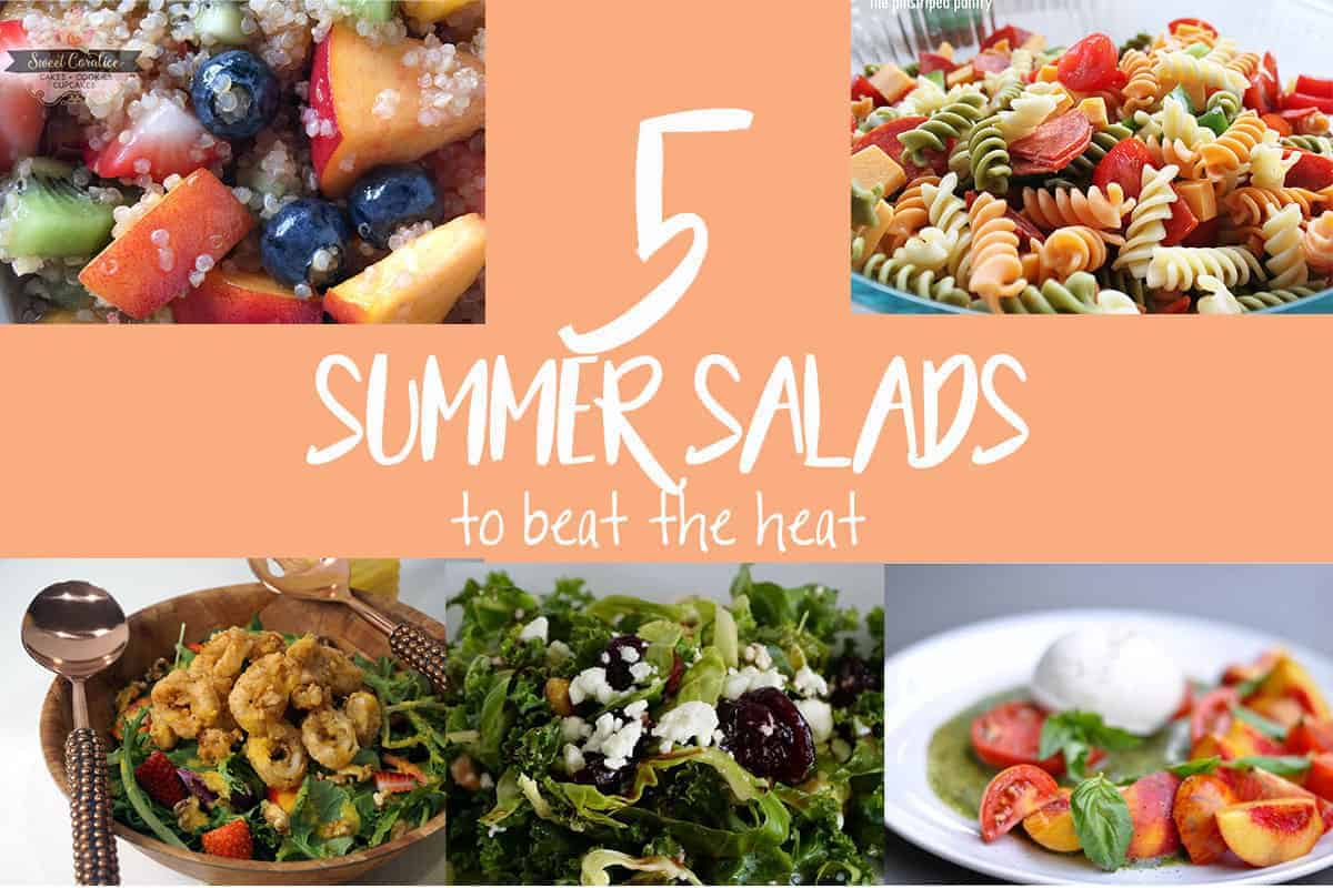 This recipe round-up of summer salads will become the newest staples at your family gatherings.