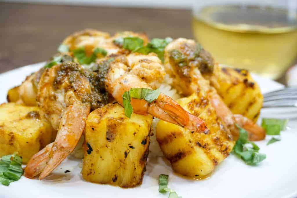 Grilled Pineapple Basil Shrimp -- If you need a quick shrimp recipe for the summer then this Grilled Pineapple Basil Shrimp will not disappoint. -- lilsweetspiceadvice.com