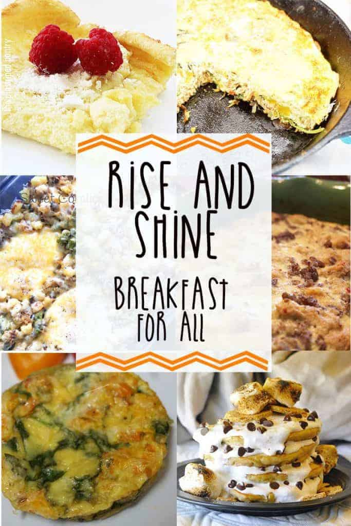 Breakfast for All: Recipe Roundup -- Five blogger friends and I have gathered together to share our favorite breakfast recipes from frittatas, smores pancakes, hashes, and egg muffins. -- lilsweetspiceadvice.com